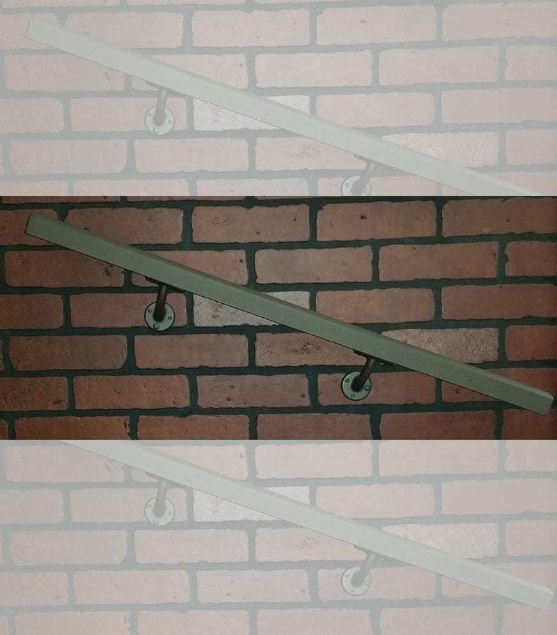 Aluminum Wall Handrail installed