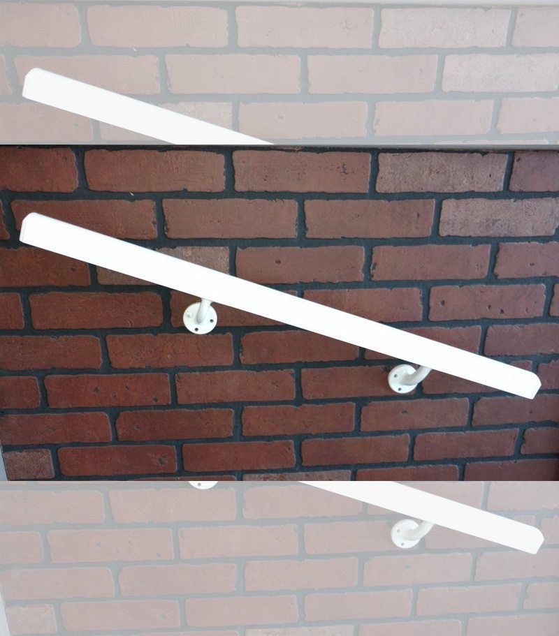 Aluminum Wall Handrail on a brick wall
