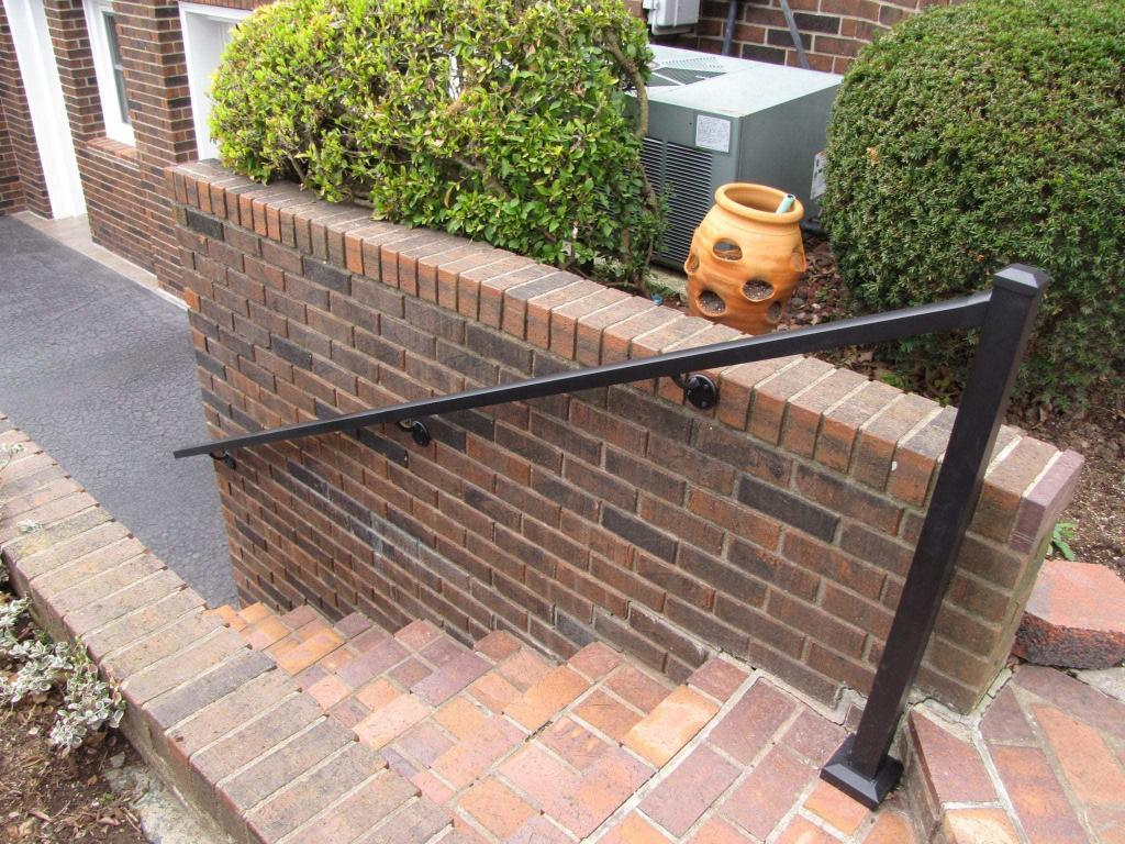 Aluminum handrail on steps from Aluminum Handrail Direct
