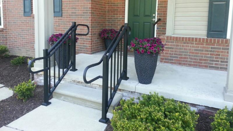 Aluminum Handrail Direct railing to front porch