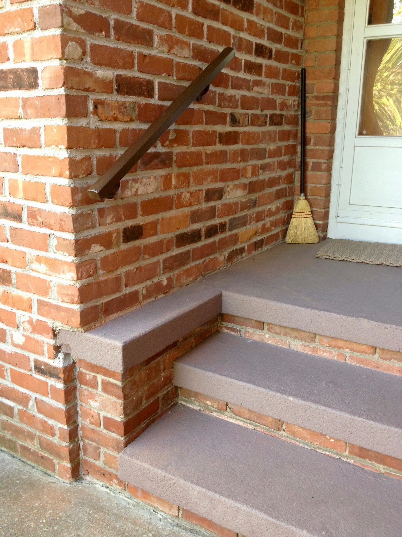Aluminum Handrail Direct metal railing on front patio