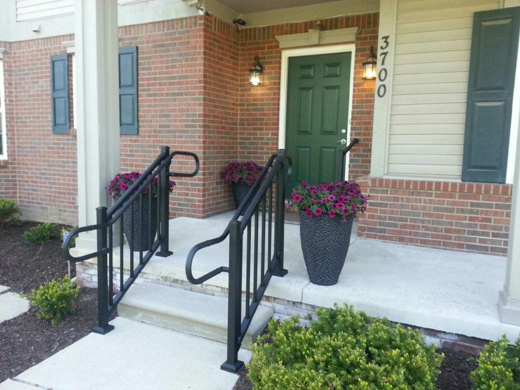 AHD Railing on front porch steps