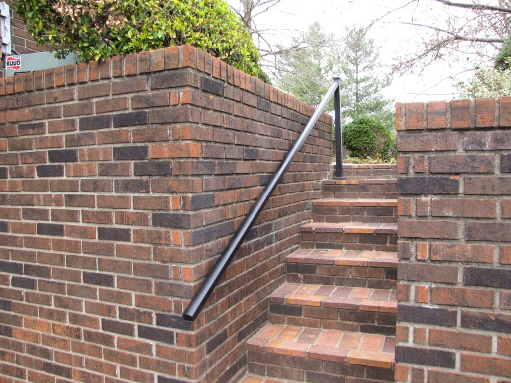 Aluminum Handrail Direct Railing on Brick Wall